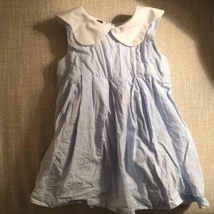 Other - Seersucker dress with white collar
